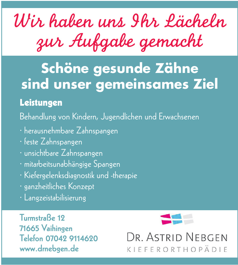 Dr. Astrid Nebgen