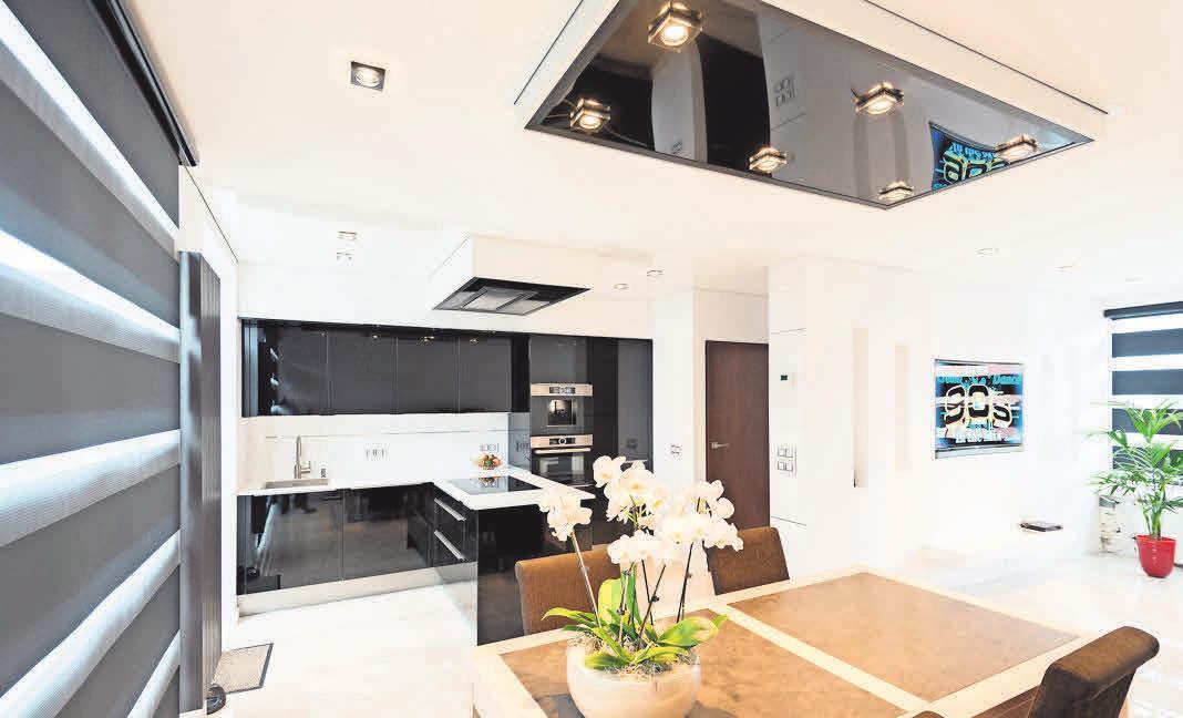 Plameco-Decken bringen ein besonderes Ambiente in den Wohnbereich.