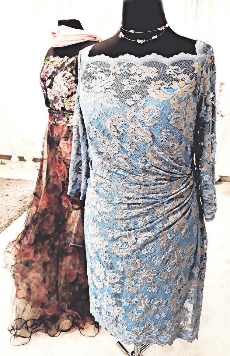 Frauen mit Figur finden eine große Auswahl an Hochzeits- und Abendkleidern.