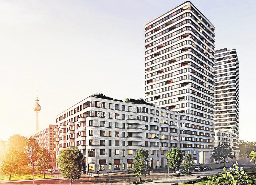 Das Upside in Friedrichshain bietet seinen künftigen Bewohner Sicht auf die Spree – zumindest aus den oberen Etagen. FOTO: ZIEGERT IMMOBILIEN
