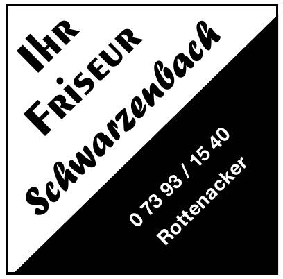 Ihr Friseur Schwarzenbach