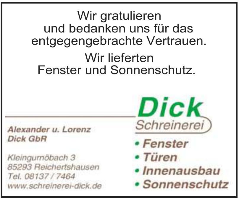 Dick Schreinerei - Alexander u. Lorenz Dick GbR