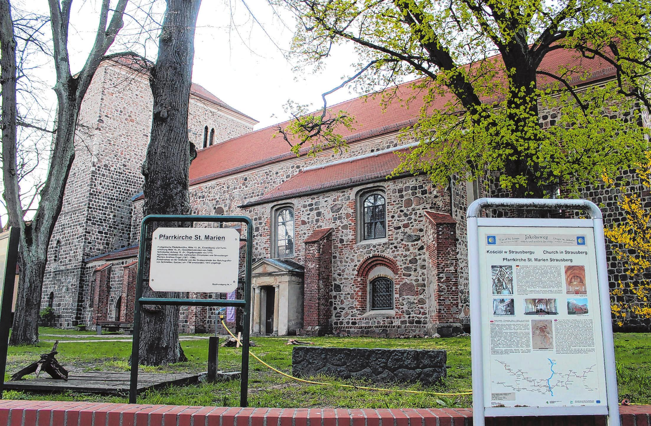 Die Marienkirchein Strausberg ist täglich von 8 Uhr bis 18 Uhr geöffnet. Foto: Thomas Berger
