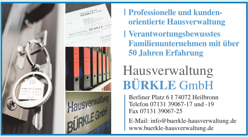 Hausverwaltung Bürkle GmbH