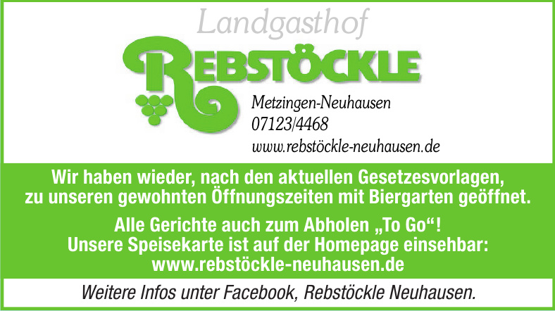Landgasthof Rebstöckle