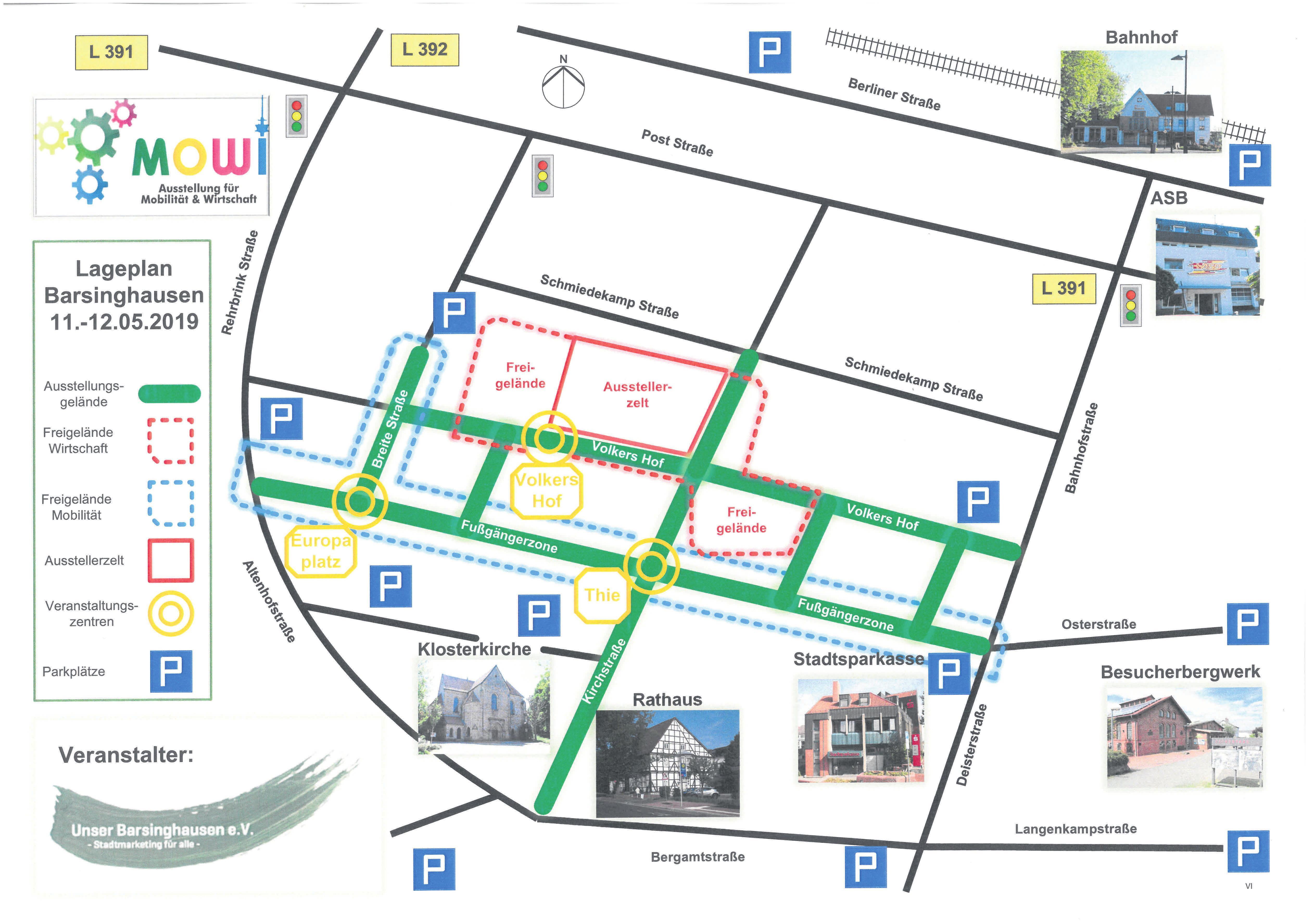 Wo finde ich was auf der MOWI? Der Plan zeigt es den Besuchern. Grafik: Unser Barsinghausen