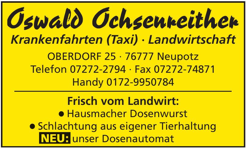 Oswald Ochsenreither