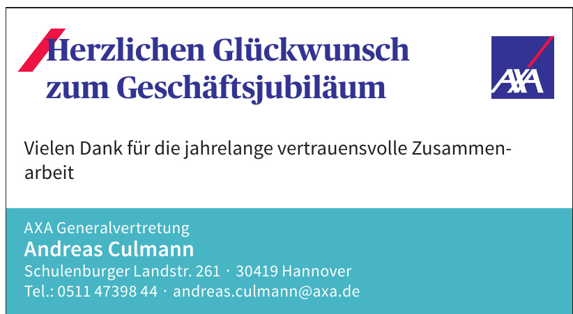AXA Generalvertretung Andreas Culmann