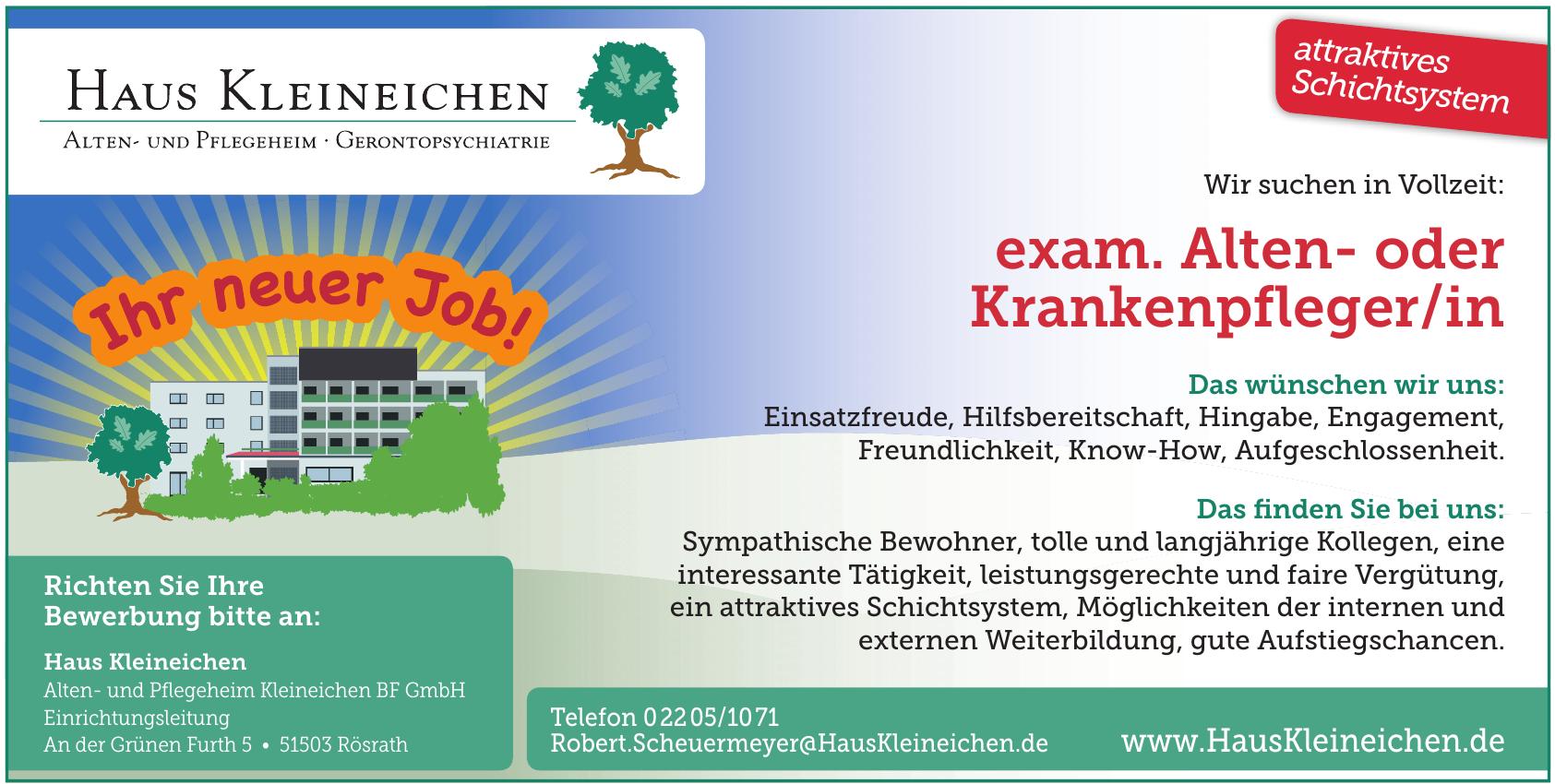 Alten- und Pflegeheim Kleineichen BF GmbH