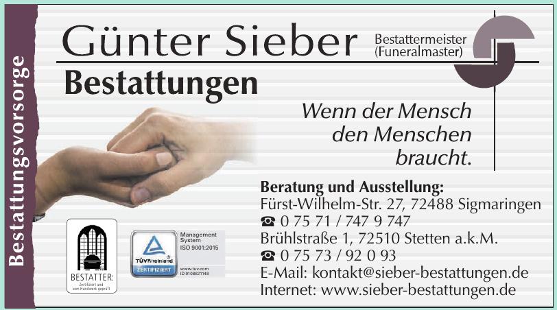 Günter Sieber  Bestattungen