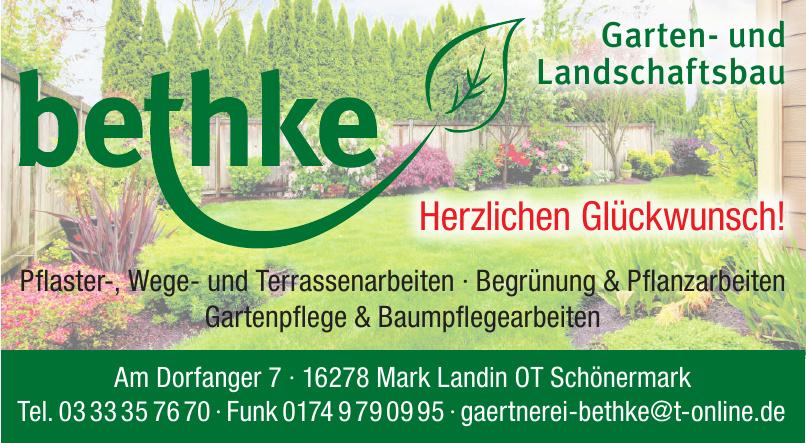 Garten- und Landschaftsgestaltung Bethke
