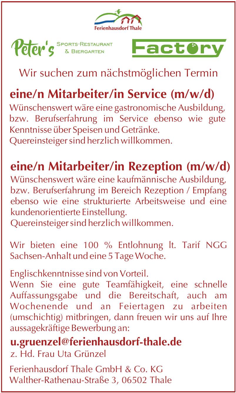 Ferienhausdorf Thale GmbH & Co. KG