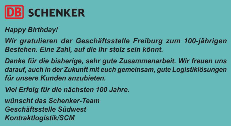 Schenker - Geschäftsstelle Südwest Kontraktlogistik/SCM