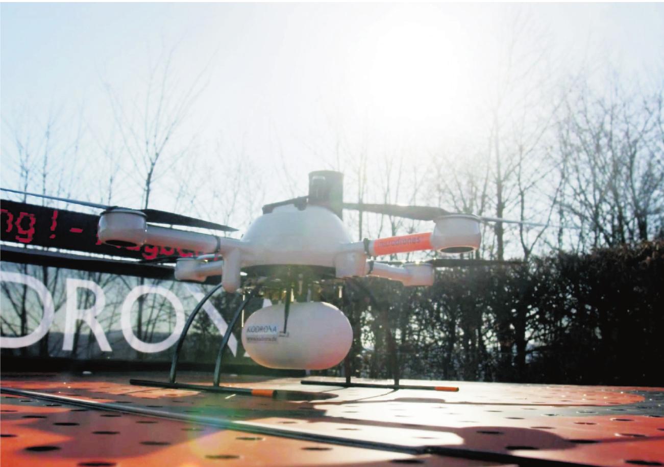 Medizinische Transporte sind nur der Anfang: In Siegen soll ein Drohnen-Kompetenzzentrum entstehen. (Foto: KODRONA)