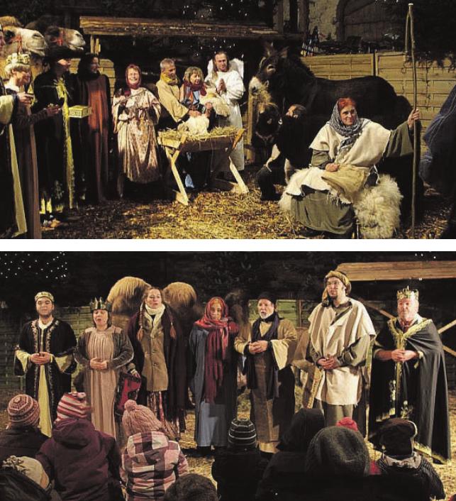 Die Darstellung der Weihnachtsgeschichte verzaubert Jung und Alt Die Aufführung wird am vierten Adventswochenende mehrmals gezeigt