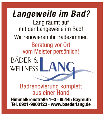 Bäder & Wellnes Lang
