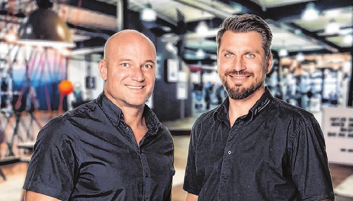 Michael Schetter und Nico Scheller, die Betreiber der In Shape-Studios. Foto: In Shape