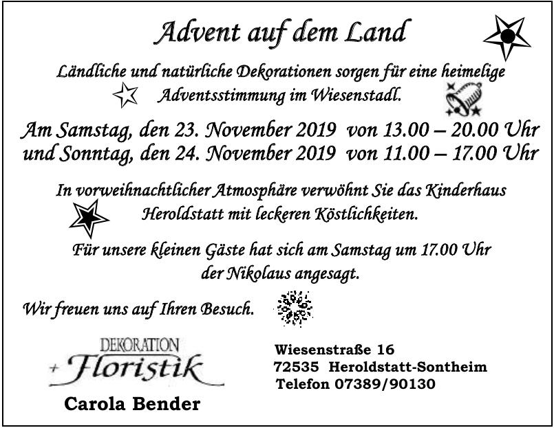Carola Bender - Dekoration Floristik