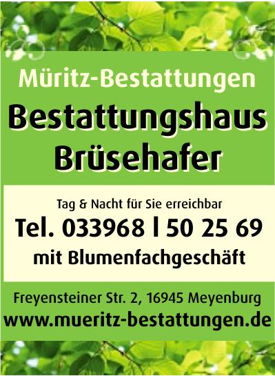 Müritz-Bestattungen - Bestattungshaus Brüsehafer