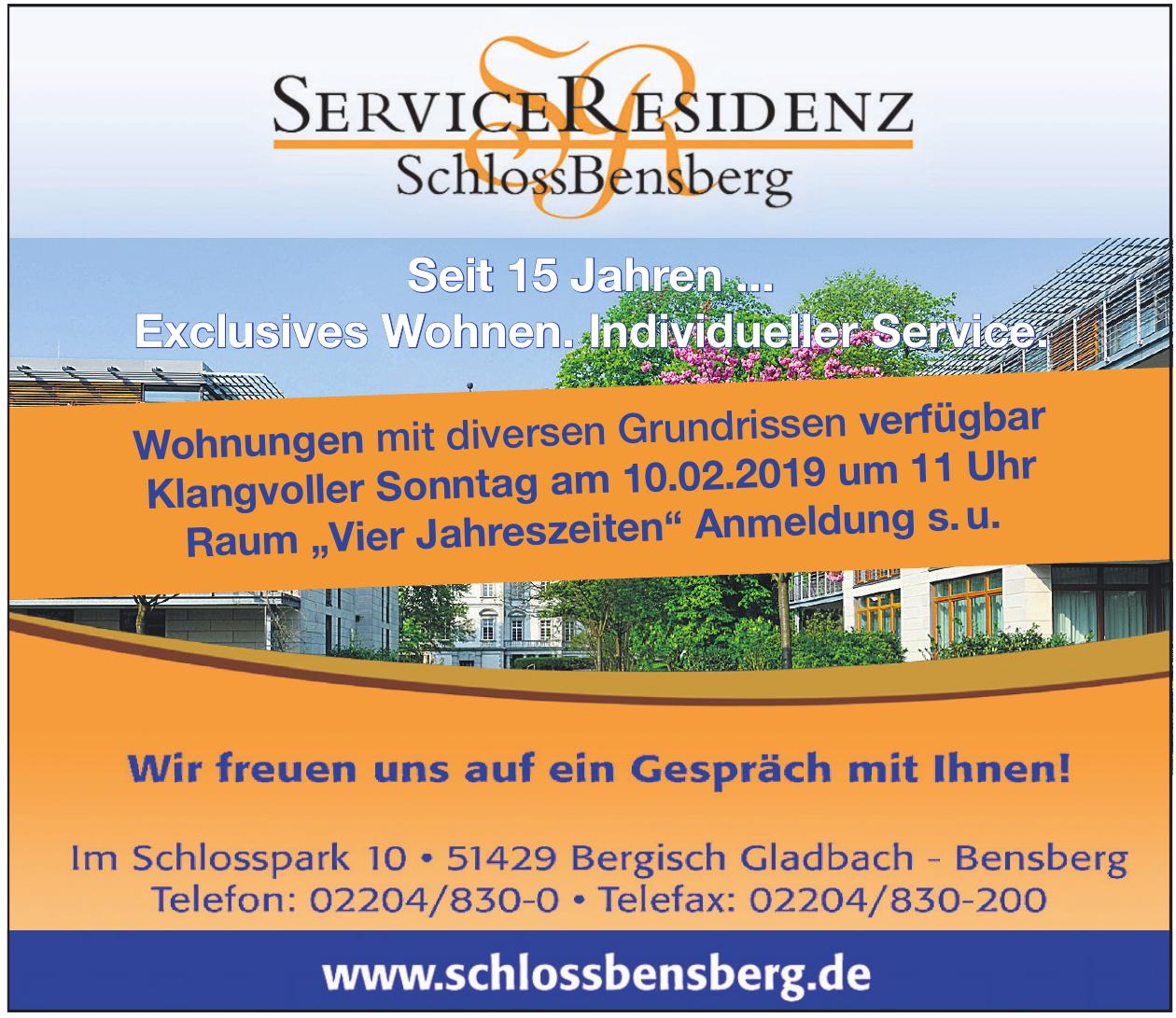 Service Residenz Schlossbensberg