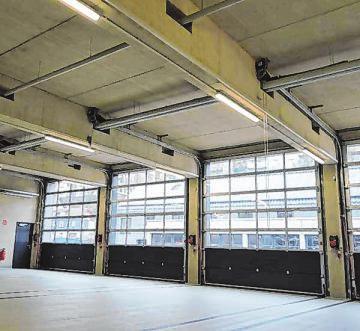 Der neue zentrale Bauhof der Stadt Siegen verfügt über zwei neue Hallen.
