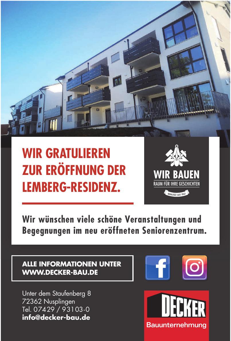 Decker GmbH & Co. KG