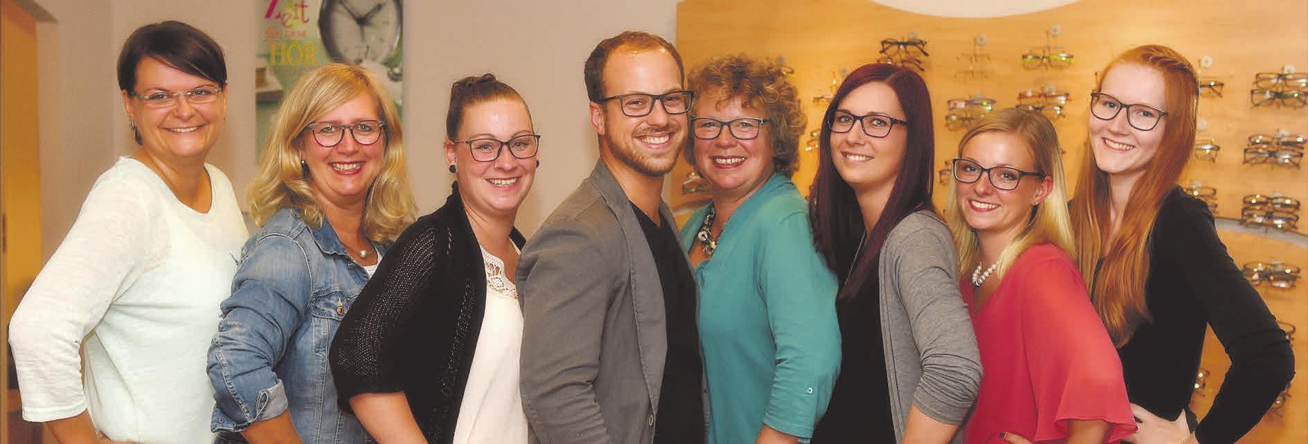 Das Team um Chefin Christiane Paul und Maarten Heschen freut sich, dass Kunden das breit gefächerte Angebot an Brillen, Kontaktlinsen und Hörgeräteakustik so gut annehmen.
