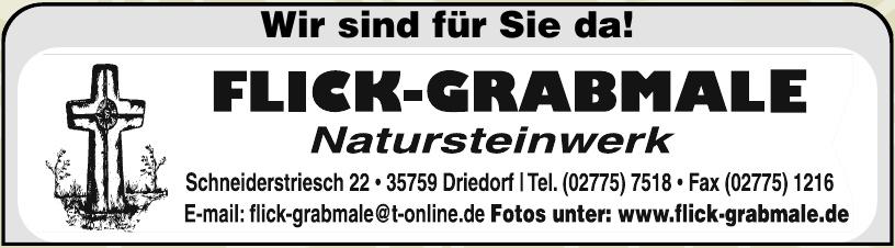 Flick-Grabmale
