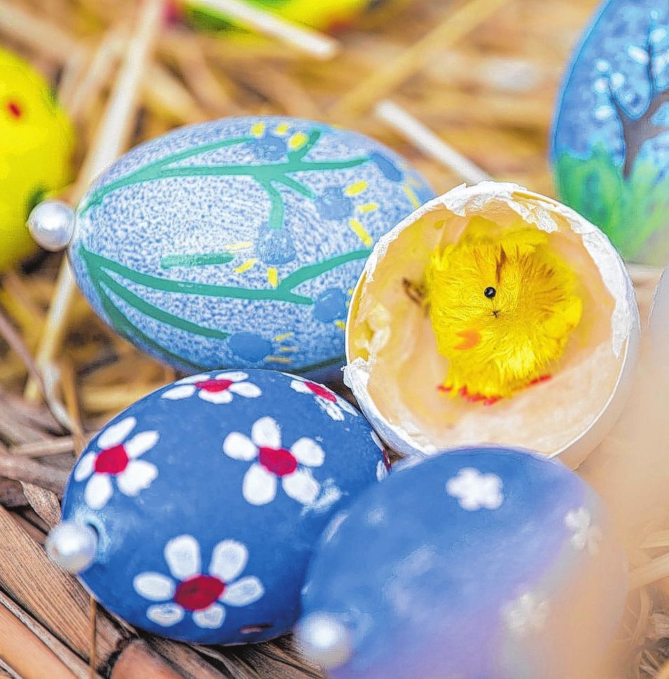 In der Alten Schmiede wird am 6. April fürs Osterfest gebastelt. Foto: dpa/Gollnow