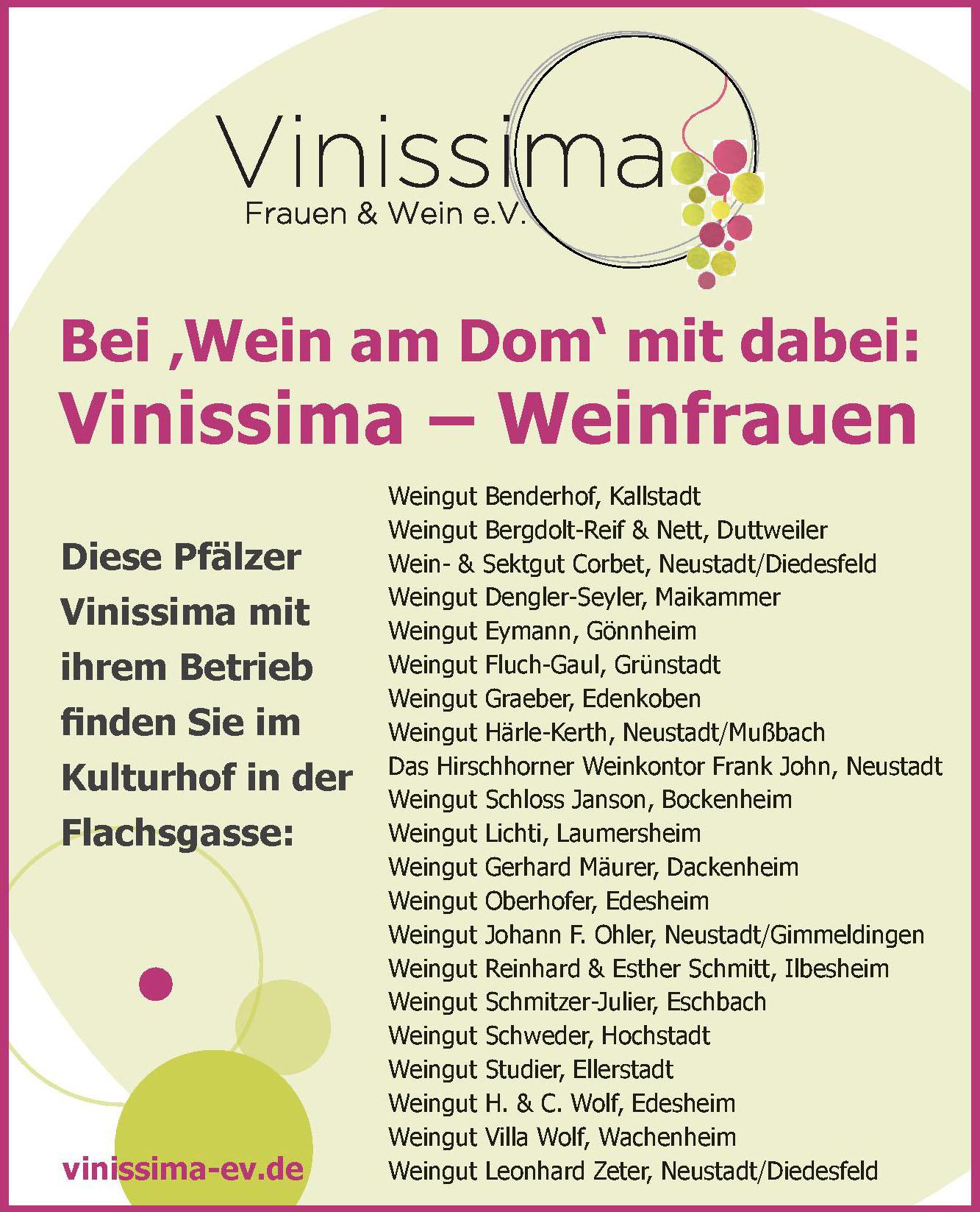 Vinissima Frauen & Wein e.V.