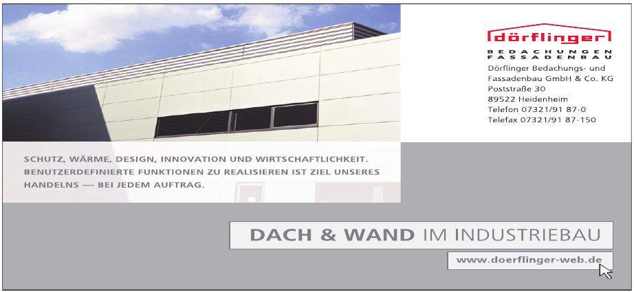 Dörlinger Bedachungs- und Fassadenbau GmbH & Co. KG