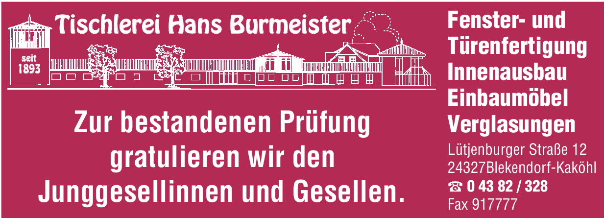 Tischlerei Hans Burmeister