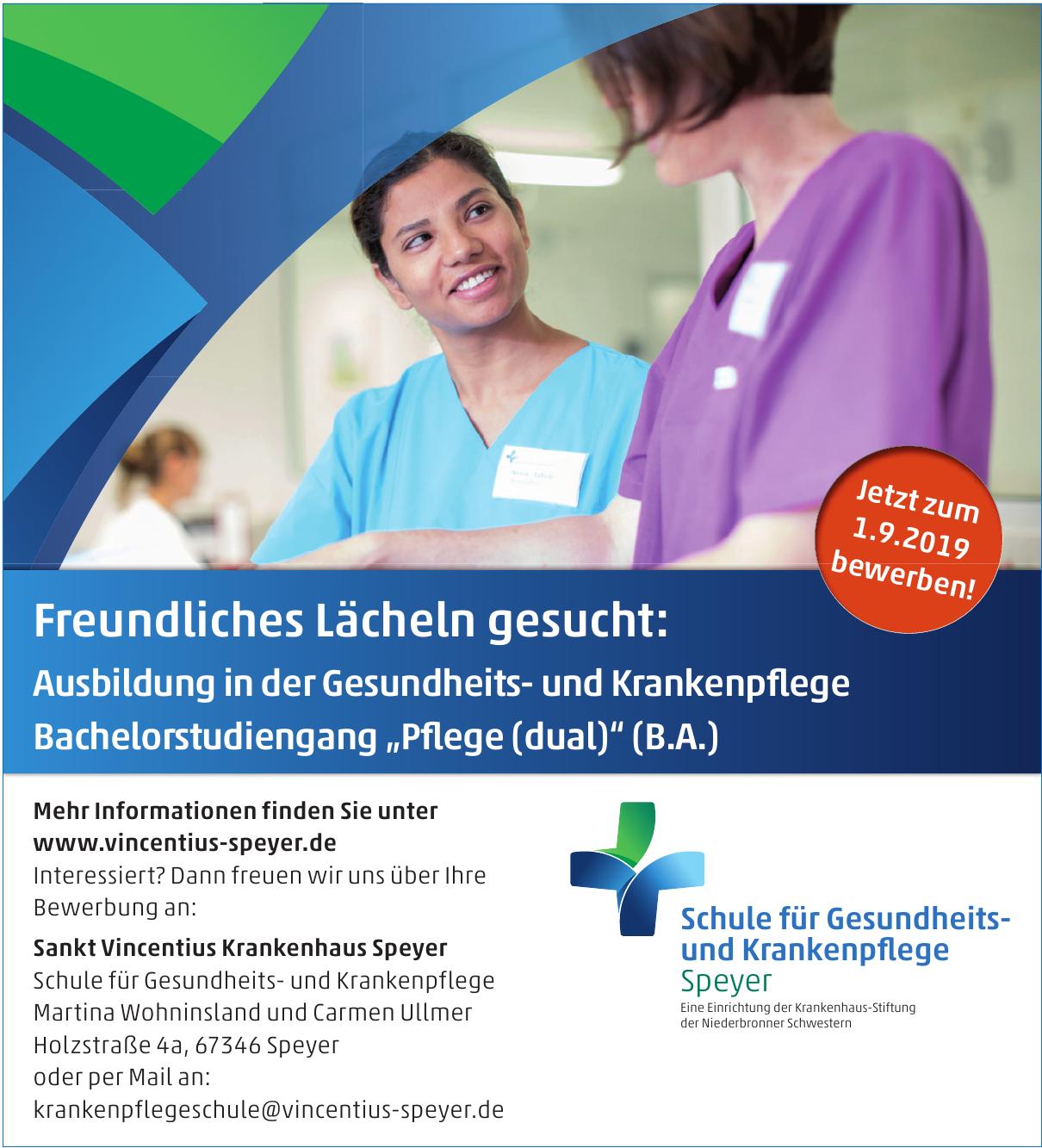 Sankt Vincentius Krankenhaus Speyer - Schule für Gesundheits- und Krankenpflege