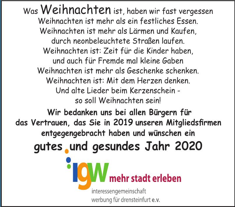 igw Interessengemeinschaft Werbung für Drensteinfurt e.v.