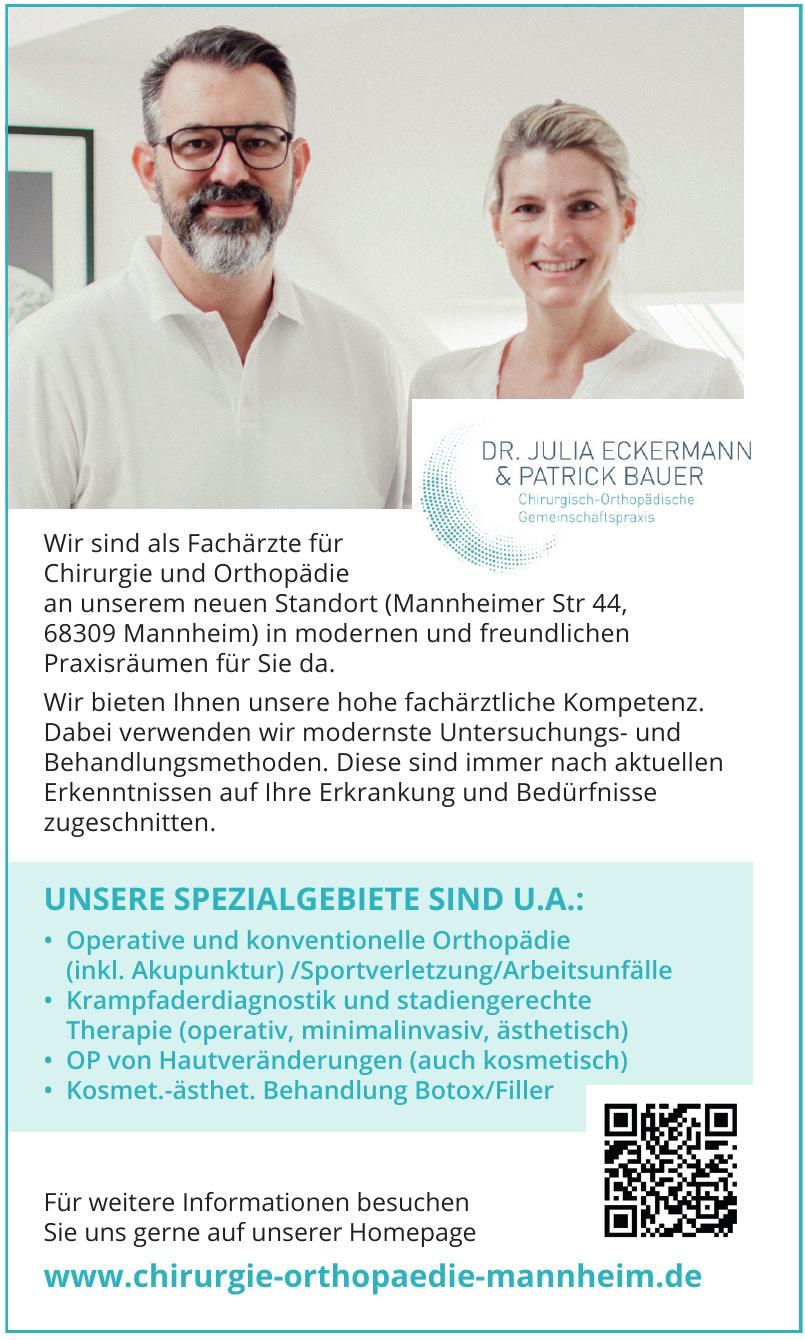 Dr. Julia Eckermann & Patrick Bauer Chirurgisch-Orthopädische Gemeinschaftspraxis