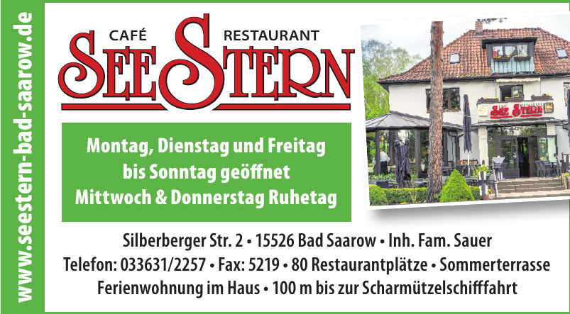 Café Restaurant See Stern