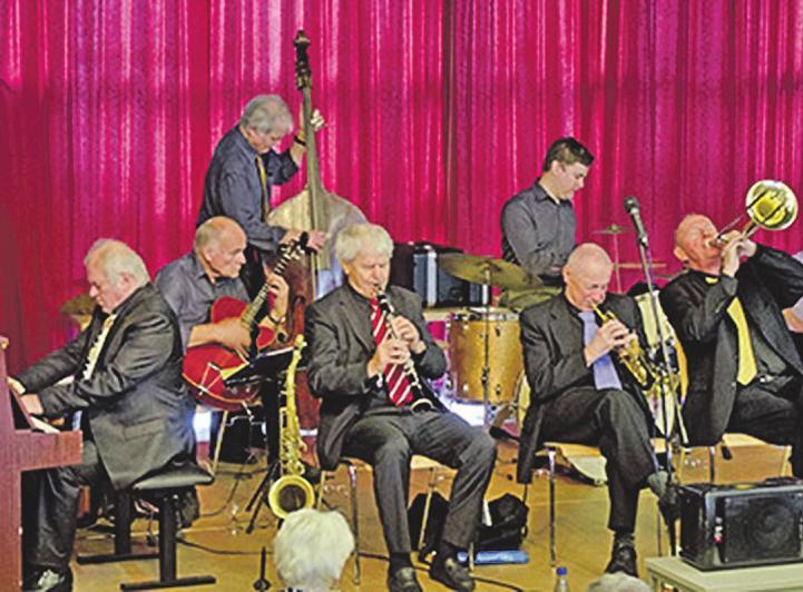"""Jazz-Legende Abbi Hübner und seine """"Low Down Wizards heizen ihren Fans beim Superfest der Jazzmusik kräftig ein Foto: Ellermann"""
