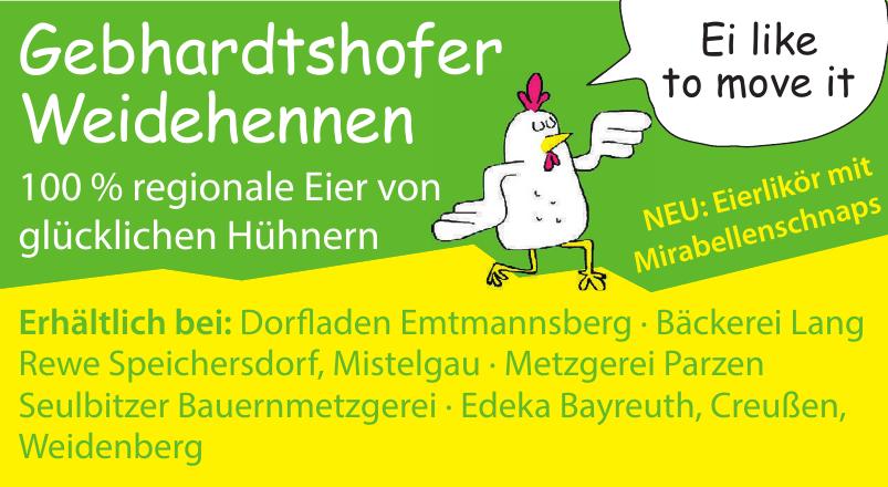 Gebhardtshofer Weidehennen in Dorfladen Emtmannsberg