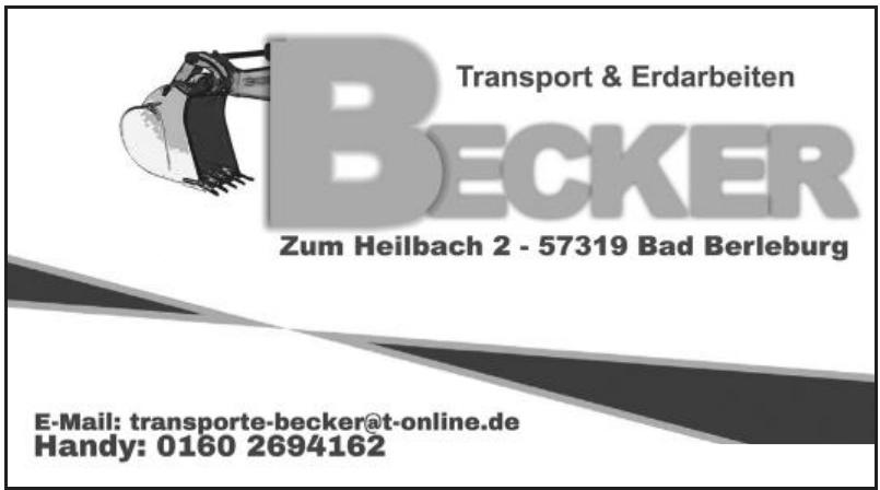 Transport und Erdarbeiten Becker
