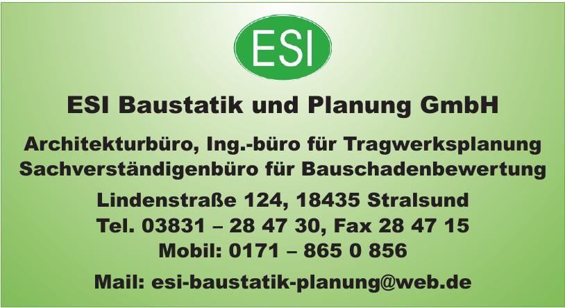 ESI Baustatik und Planung GmbH