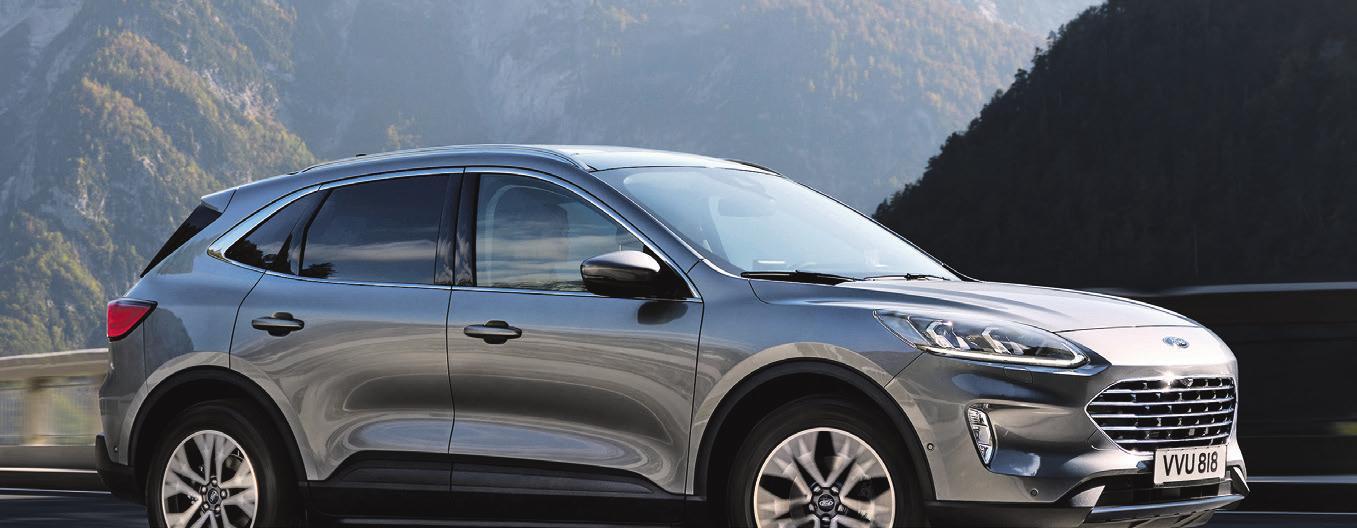 Kraftstoffverbrauch in l/100 km für Ford Kuga: kombiniert 5,9-1,2; Stromverbrauch in kWh/100 km 15,8, CO2-Emissionen in g/km kombiniert: 134-26 © FORD I ABBILDUNG ZEIGT SONDERAUSSTATTUNG
