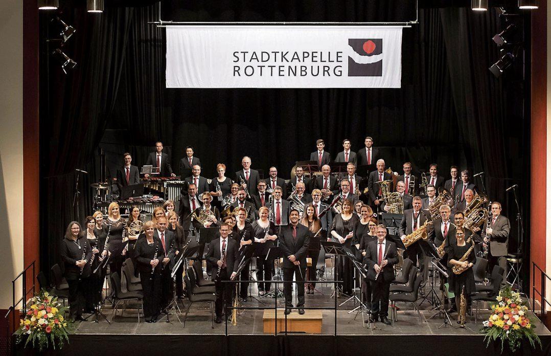 Die Rottenburger Stadtkapelle: 2018 beim Herbstkonzert