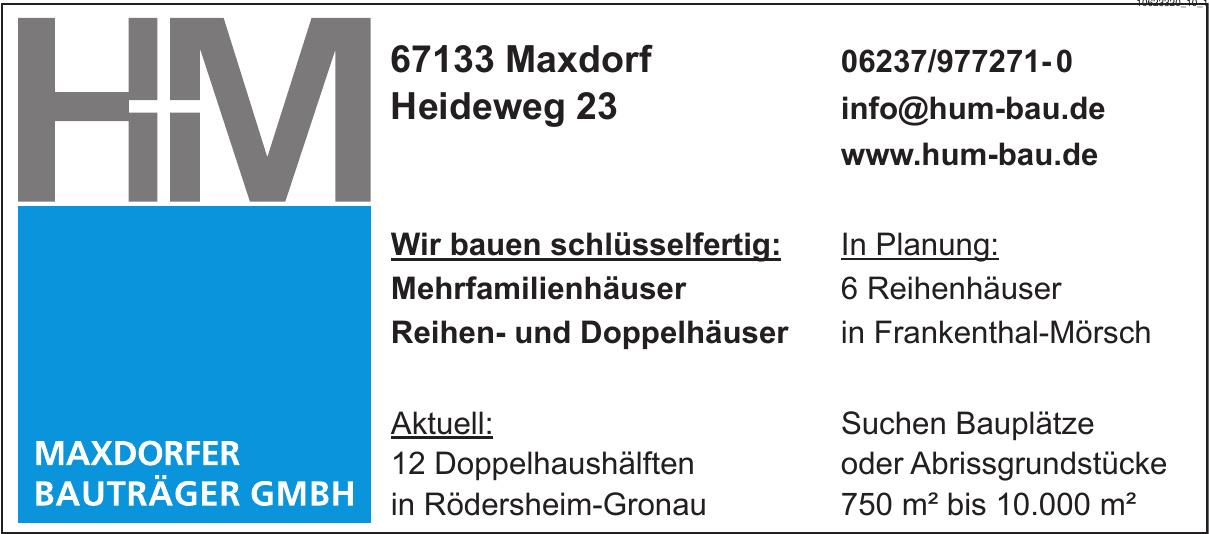 H u. M, Maxdorfer Bauträger GmbH