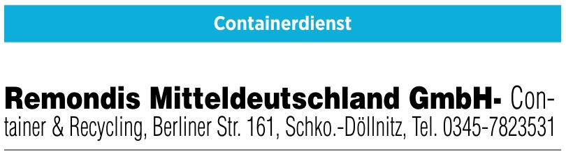 Remondis Mitteldeutschland GmbH- Container & Recycling