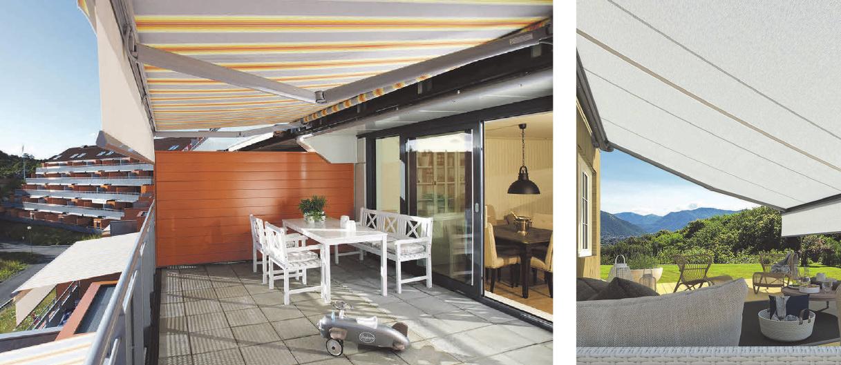 Wer lange Freude an seiner neuen Terrassenmarkise haben möchte, setzt auf ein hochwertiges Tuch. Foto: djd/Weinor