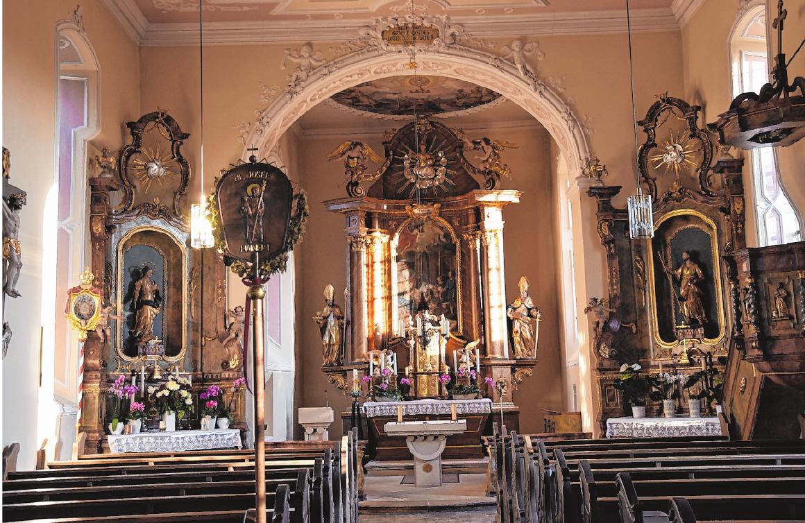 In der Dorfkirche, die dem Heiligen Josef geweiht ist, findet am Sonntag um 10 Uhr eine Messfeier zum Fest der Kirchweih statt. FOTO: CHRISTIANE REUTHER