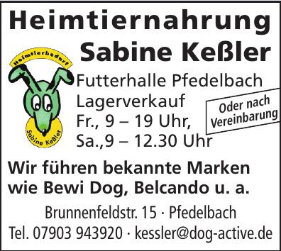 Heimtiernahrung Sabine Keßler