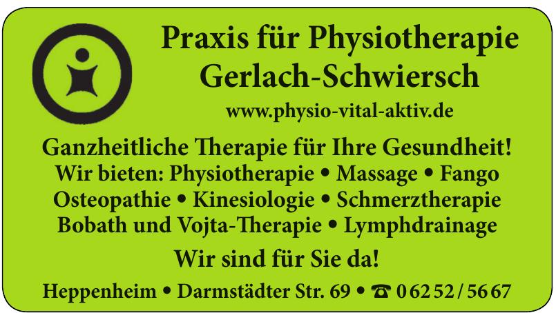 Praxis für Physiotherapie Gerlach-Schwiersch