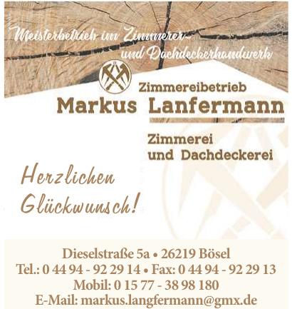 Zimmerei und Dachdeckerei Markus Lanfermann