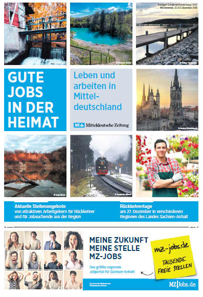 Gute Jobs in der Heimat - Aschersleben, Quedlinburg, Bernburg